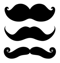 set moustaches design element for poster vector image