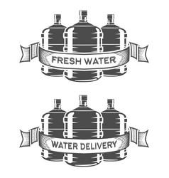 Set of two water bottle logo vector