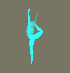 silhouette of a ballet dancer 3d model of man vector image