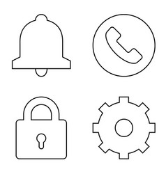simple set thin line icons 02 vector image