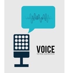 Sound of voice vector image