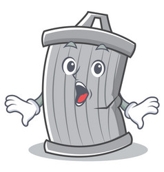 Surprised trash character cartoon style vector