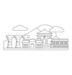 taipei icon outline style vector image