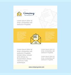 template layout for letter comany profile annual vector image