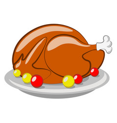 Thanksgiving day turkey vector