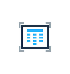 touch security logo icon design vector image