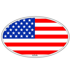 usa flag icon symbol sign vector image
