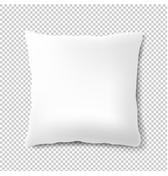 white pillow isolated transparent background vector image