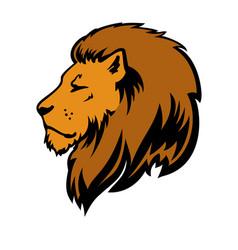Wild lion icon logo template vector
