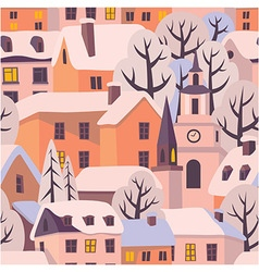 Winter twilight pattern vector
