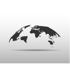 World map bulging in a shape globe abstract vector