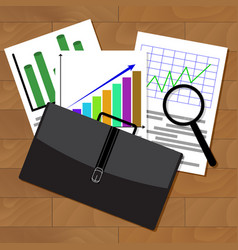 analysis of stock market statistics vector image vector image