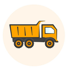 colored dumper icon dump track vector image vector image