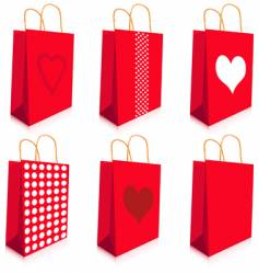 red bags vector image vector image