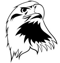 stylized image of an eagle vector image vector image