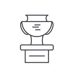 winner cup line icon sign o vector image