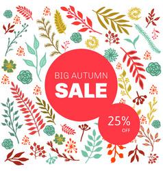 autumn sale floral pattern vector image vector image