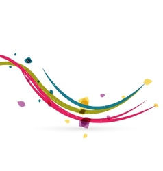 Colorful spring lines conceptual nature design vector image vector image