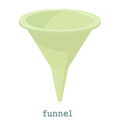 funnel icon cartoon style vector image