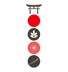 Japan Icon set vector image vector image