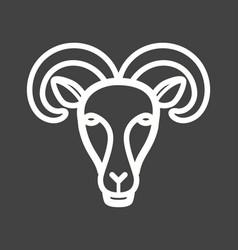 moutain goat face vector image