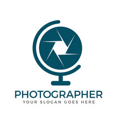 photography logo design vector image