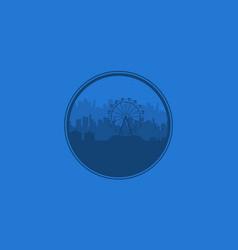 background amusement park silhouette vector image vector image
