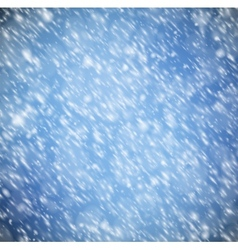 Background with snow vector image