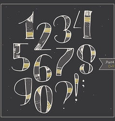 English hand drawn funky digits decorated and vector image vector image