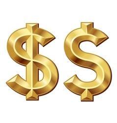 Green dollar vector image vector image