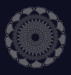 mandala meditation spirtual element vector image