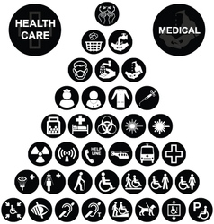 Medical and health care Icon collection vector image vector image