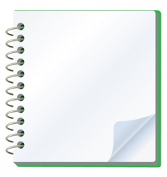 vector illustration of notepad vector image vector image