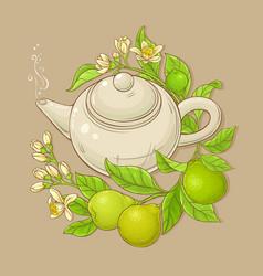 bergamot tea vector image