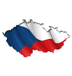 Czech Map Flag vector image