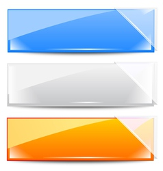 frames with white glass ribbons vector image