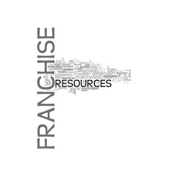 franchise resources which are required for a vector image