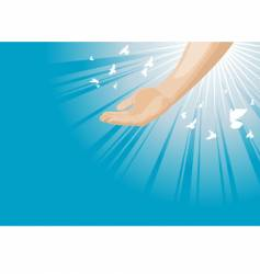 god's hand vector image vector image
