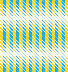 Yellow and blue lines seamless pattern vector image vector image