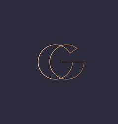Abstract gradient linear monogram letter g logo vector