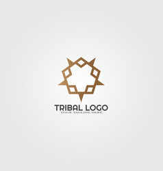 Abstract tribal logo template modern colorful vector