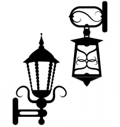 Ancient street fixtures vector