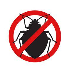 Anti no bedbug insect symbol vector
