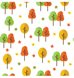 Autumn forest seamless pattern vector