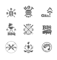 Barbeque labels or logos vector