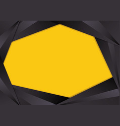 black triangle frame border vector image