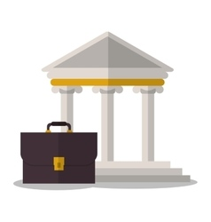 Building and suitcase of law and justice design vector