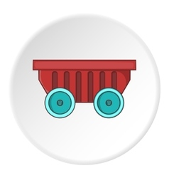 Cart on wheels icon cartoon style vector