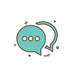 chat buble sms icon design vector image