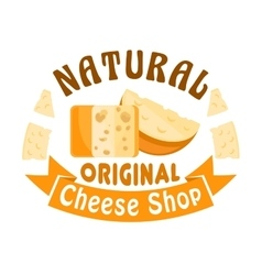 Cheese shop icon badge sign vector image